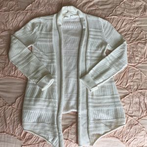A white simple cardigan